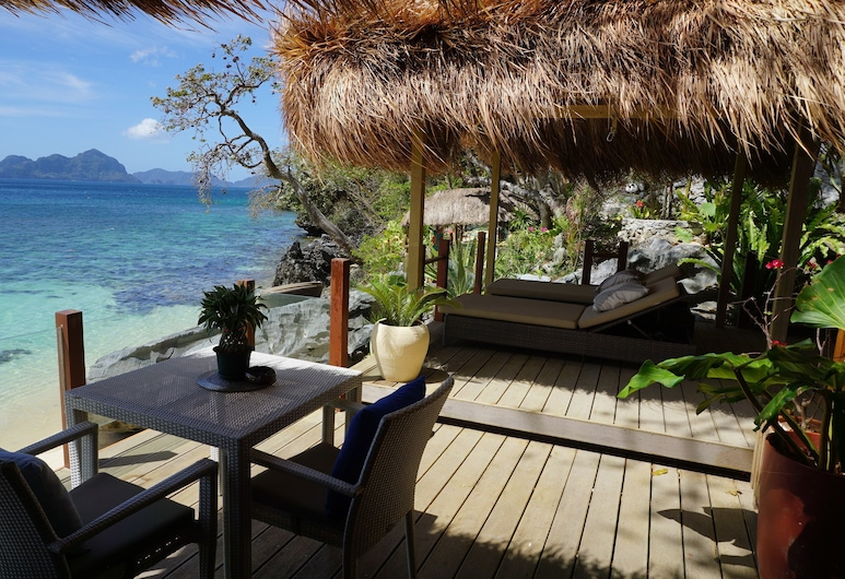 維拉哥渡假村 - 僅供成人入住, 愛妮島, 全景套房, 1 間臥室, 海景, 露台
