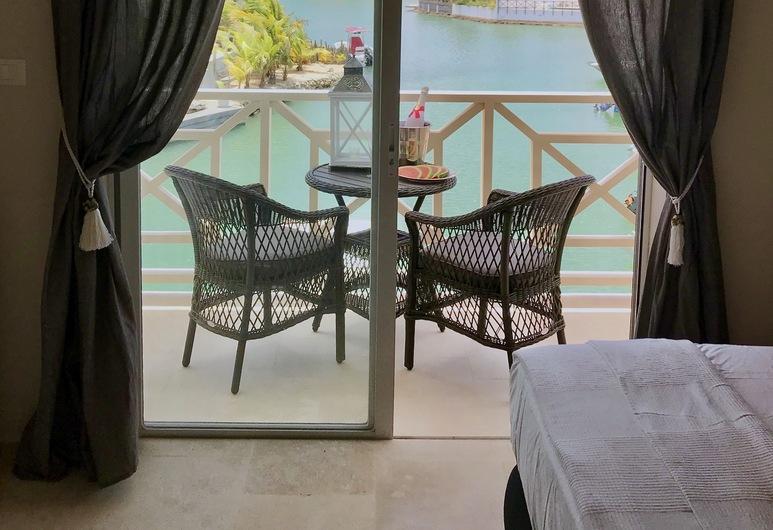 Ocean Breeze Boutique Hotel & Marina, Kralendijk, Habitación estándar con 1 cama doble o 2 individuales, balcón, vistas al puerto deportivo, Vistas desde la habitación