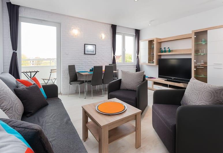 Apartinfo Apartments - Sadowa, Gdansk, Deluxe Apartment, 1 Bedroom, Balcony (with parking - 22), Bilik Rehat