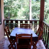 Rodinná izba, 2 veľké dvojlôžka, s výhľadom do záhrady - Balkón