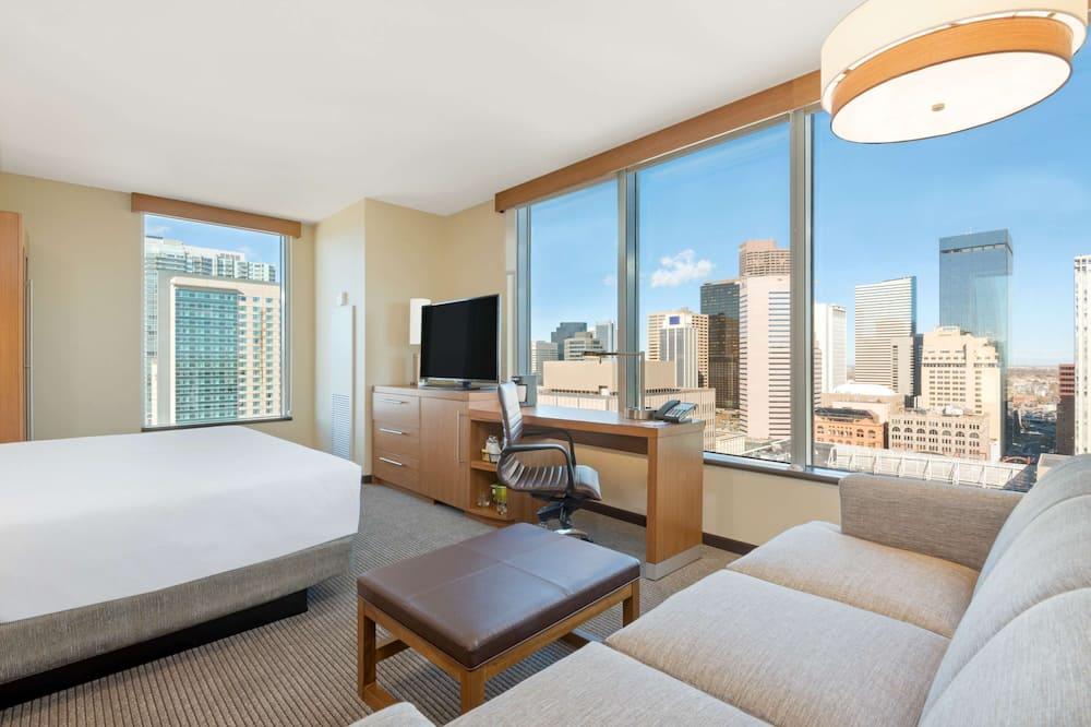 客房, 1 張特大雙人床及 1 張梳化床, 轉角 - 客房