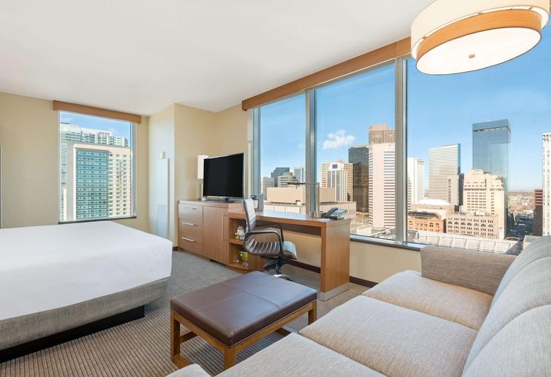 Hyatt Place Denver Downtown, Denver, Habitación, 1 cama King size con sofá cama, en la esquina, Habitación