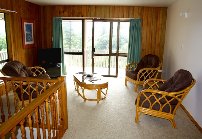 The Crest Apartments, Norfolkøya, Leilighet – family, 3 soverom, balkong, Oppholdsområde