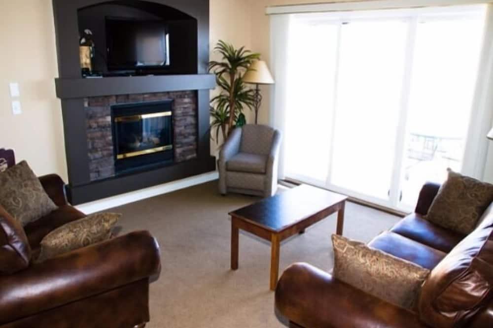 特色公寓客房, 2 張加大雙人床, 廚房, 高球場景 - 客廳