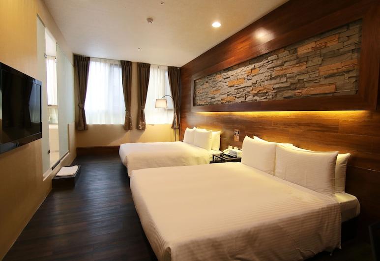 Diary of Ximen Hotel II - Liu Fu Branch, Taipei, Deluxe vierpersoonskamer, 2 tweepersoonsbedden, Kamer