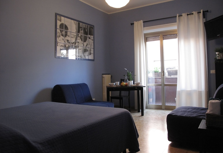 아르케스 인 B&B, 로마, 슈피리어 쿼드룸, 침실 1개, 발코니, 객실