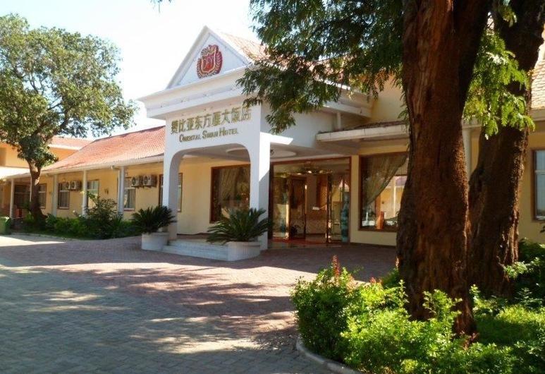 Oriental Swan Hotel Livingstone, Livingstone, Voorkant hotel