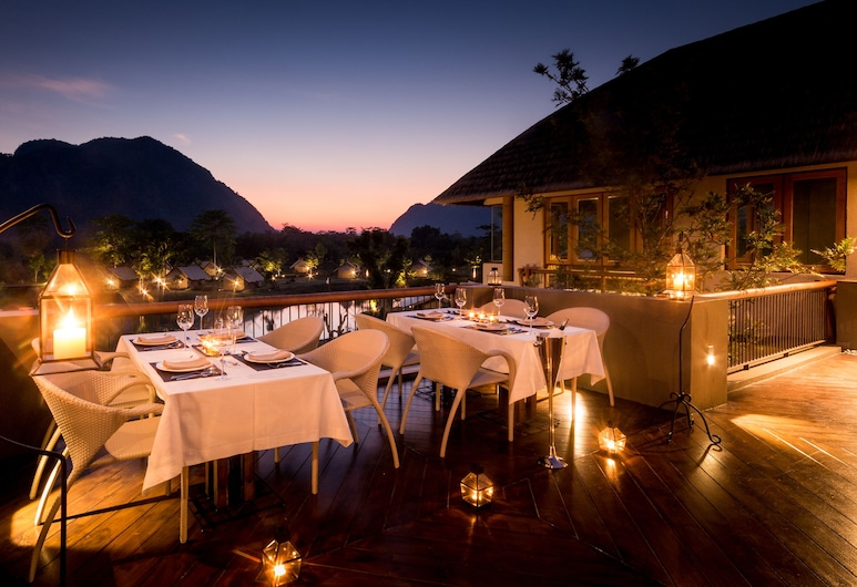 Lala Mukha Tented Resort Khao Yai, Pak Chong, Restaurante al aire libre