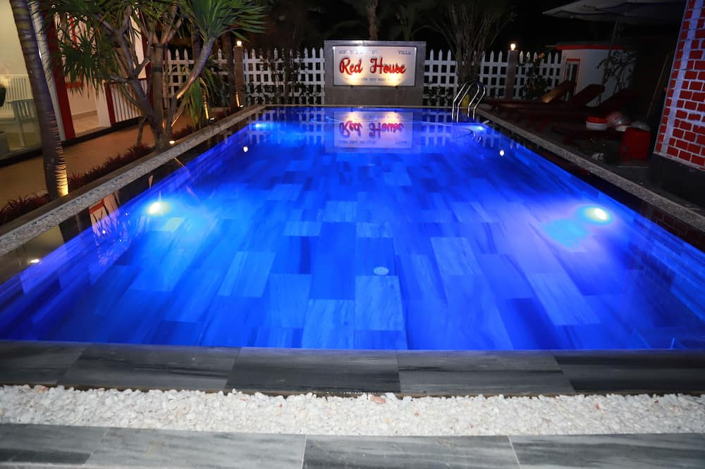 Habitación familiar, vista a la piscina - Piscina privada