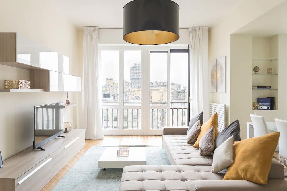 Deluxe-huoneisto, 3 makuuhuonetta, Kaupunkinäköala (Via delle Asole 2) - Olohuone