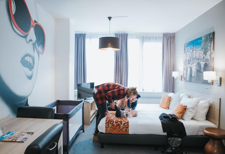 Amsterdam Teleport Hotel, Amsterdam, Studio, 2 lits une place (External Private Bathroom), Chambre