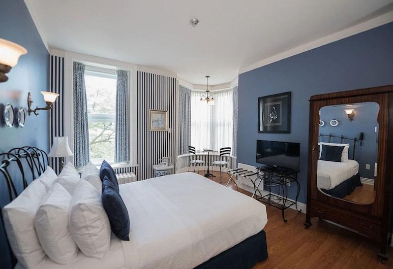 Hotel Manoir Sherbrooke, มอนทรีออล, ห้องดีลักซ์, เตียงควีนไซส์ 1 เตียง, ห้องพัก