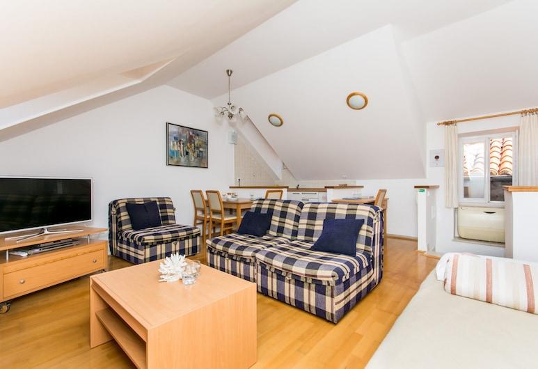 Apartments Foteza, Dubrovnik, Apartamento, 2 quartos, Vista para a cidade (Duplex), Área de estar