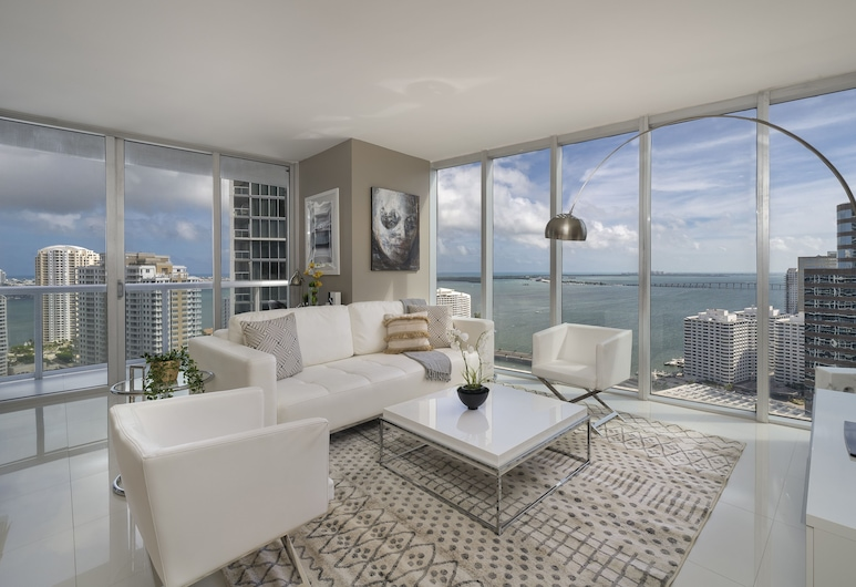 Icon Residences By Sunnyside Hotel and Resorts, Miami, Suite presidencial, vista al mar, Sala de estar