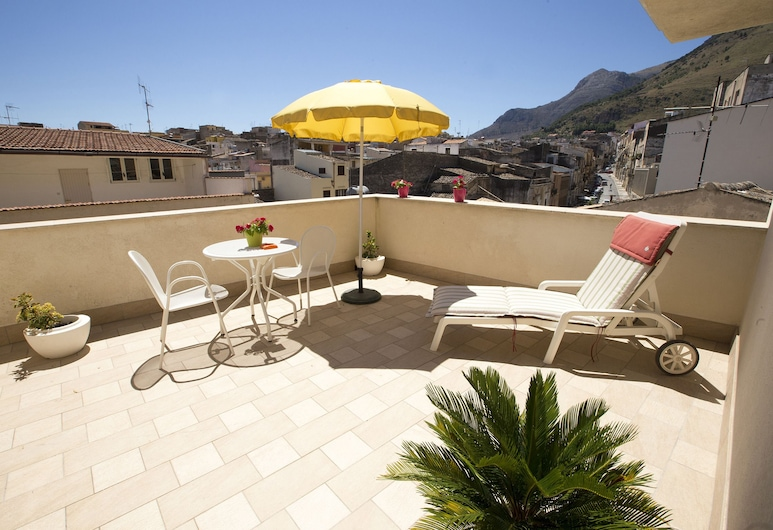 4 Canti Case Vacanze, Castellammare del Golfo, Stuudio, rõduga, vaade merele, Terrass