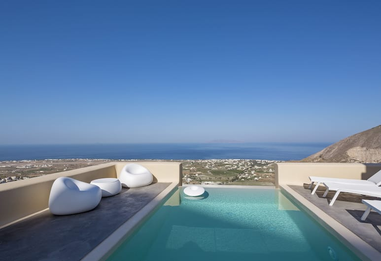 Skyfall Suites - Adults Only, Santorini, Grand Suite, Private Pool, Sea View, View from room