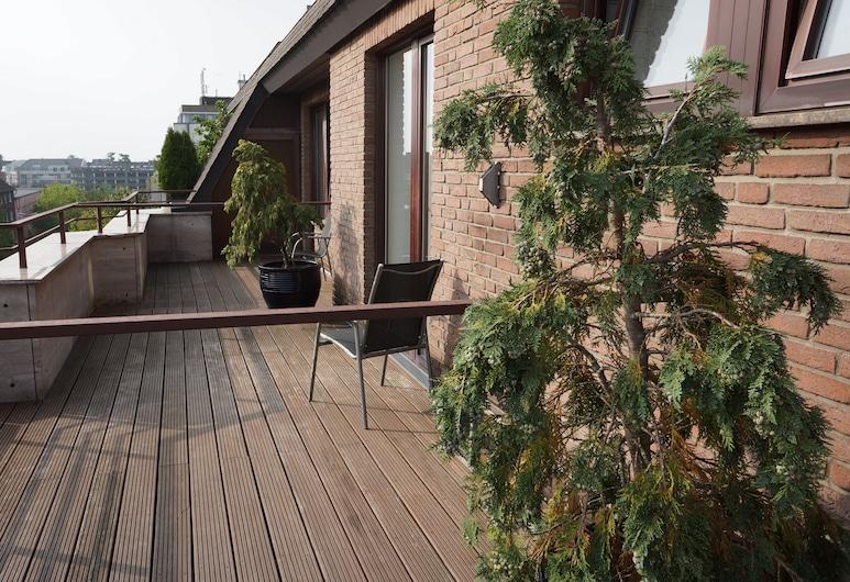 Binnewies City Hotel, Neuss, Habitación doble, balcón, vista a la ciudad, Habitación