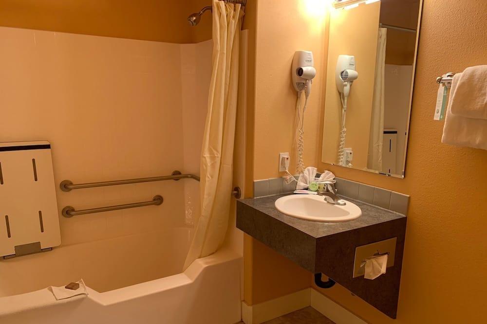 Izba typu Basic, 1 veľké dvojlôžko, bezbariérová izba - Kúpeľňa