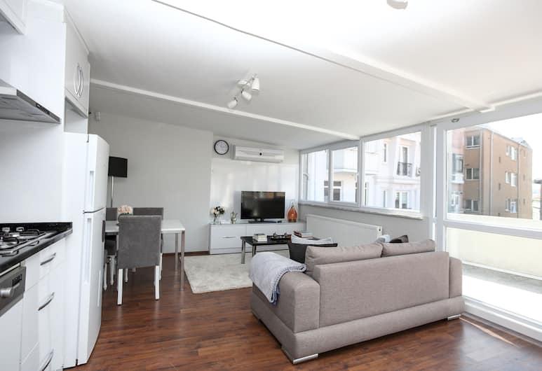 Patika Suites, İstanbul, Penthouse Apartment with Private Terrace, Oturma Alanı