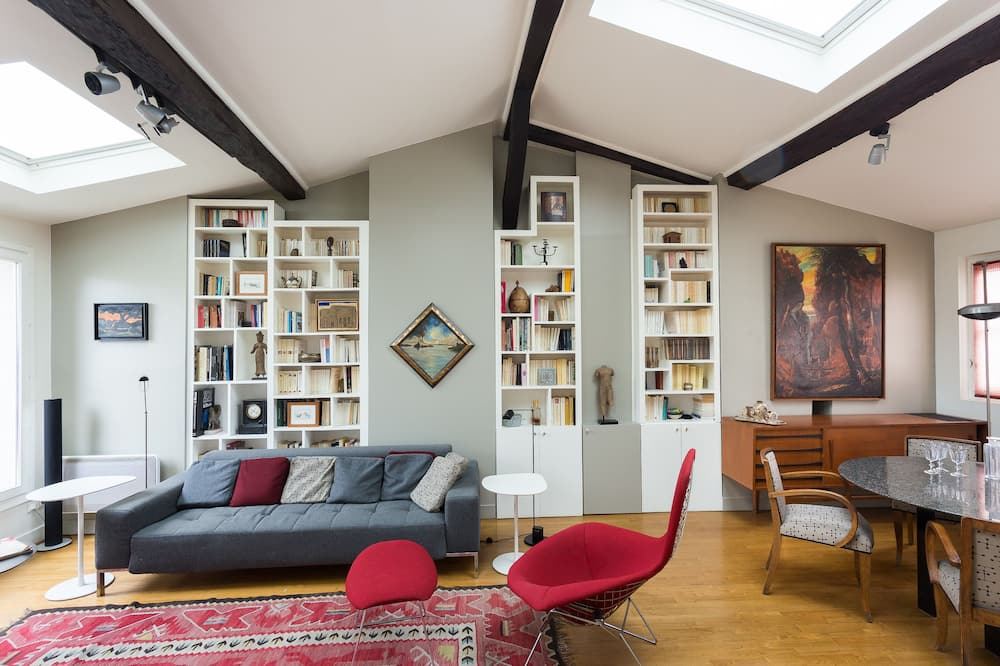 Apart Daire, 2 Yatak Odası (Rue des Petits Carreaux) - Oturma Odası