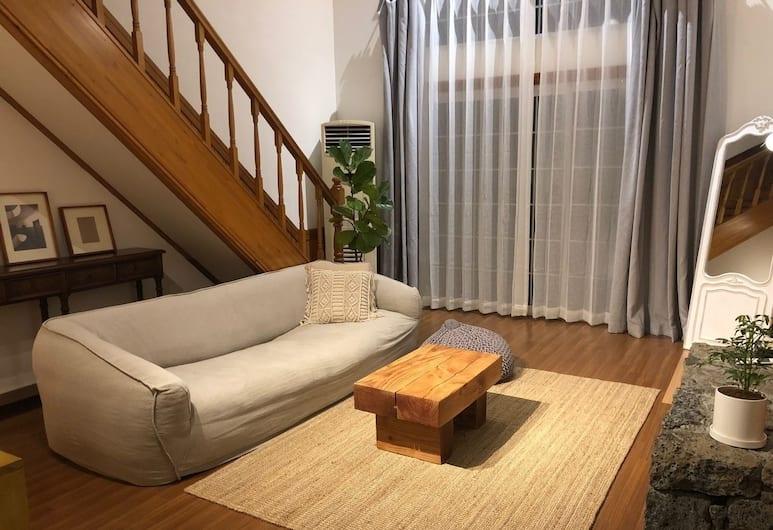 在角落酒店, Jeju City, 經典複式房屋, 2 張加大雙人床, 非吸煙房, 部分海景, 客房