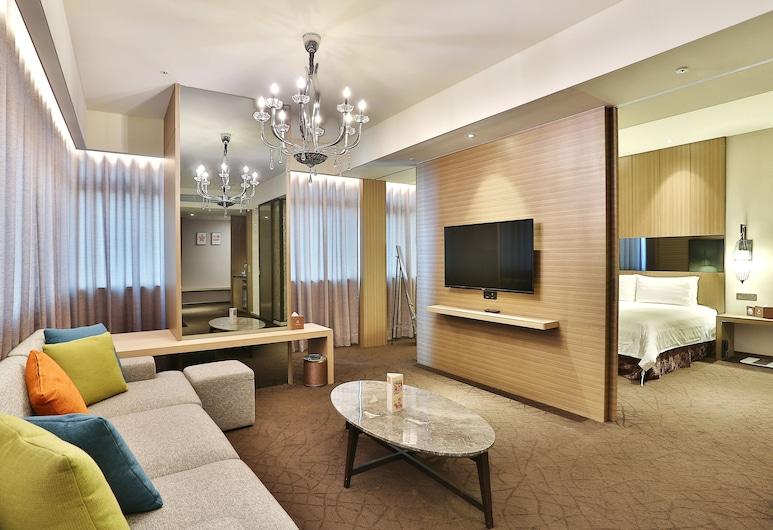 Hotel Intrendy, Nouveau Taipei, Suite Studio Exclusive, 1 grand lit, salle de bains attenante, Coin séjour