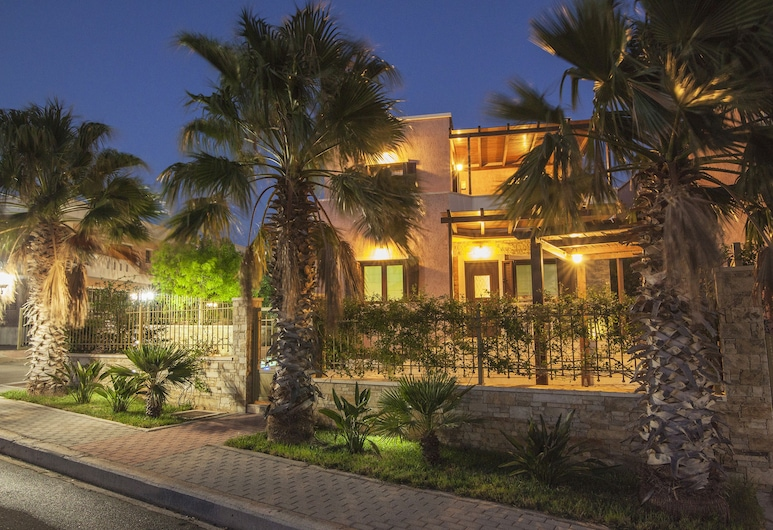 Pearls of Crete - Holiday Residences, Ierapetra, Luxury Villa, 4 Bedrooms ( Ocean Pearl), Front of property - evening