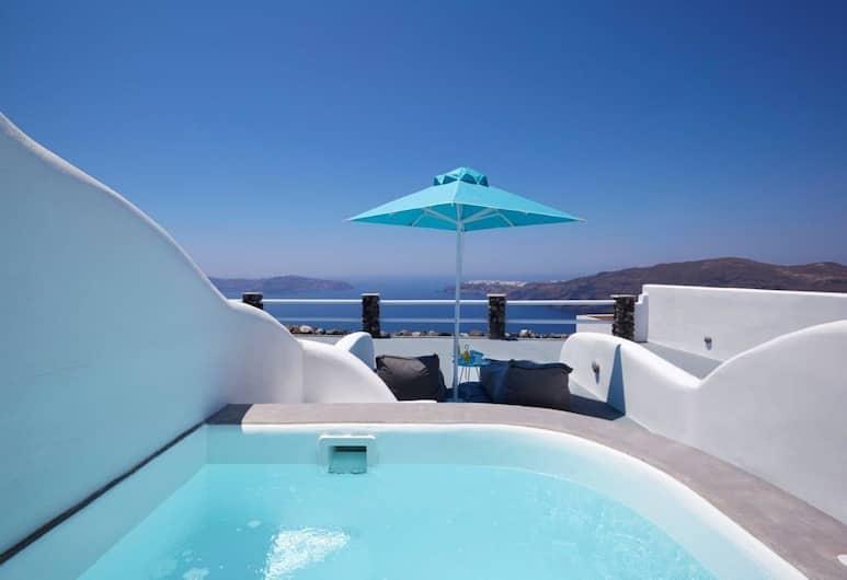 Adore Santorini, Santorini, Junior Suite, Jetted Tub, Jetted Tub