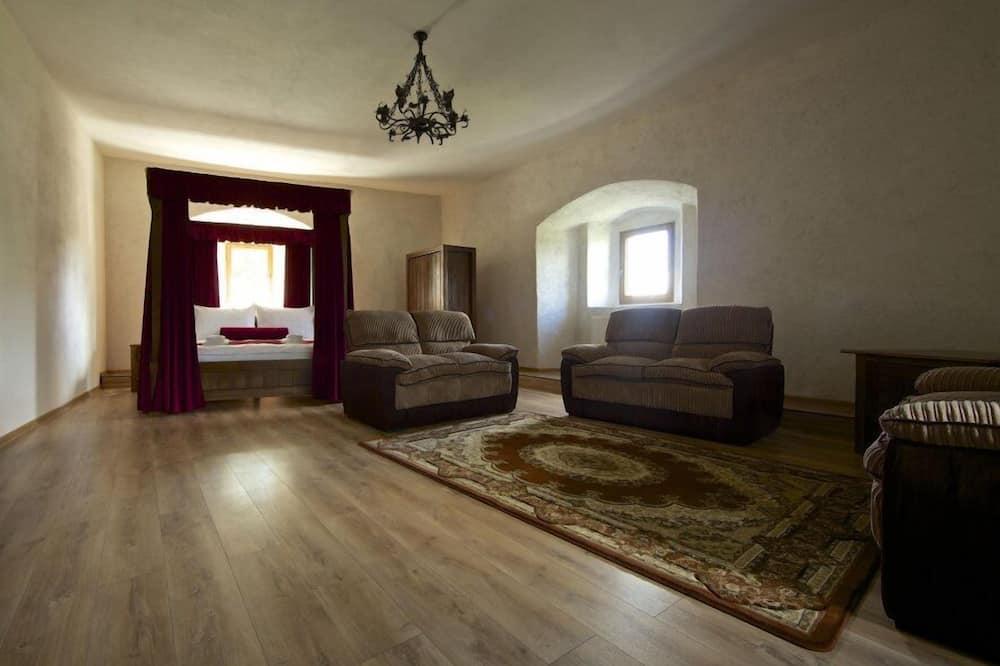 Numurs ar papildu ērtībām, viena guļamistaba - Dzīvojamā zona