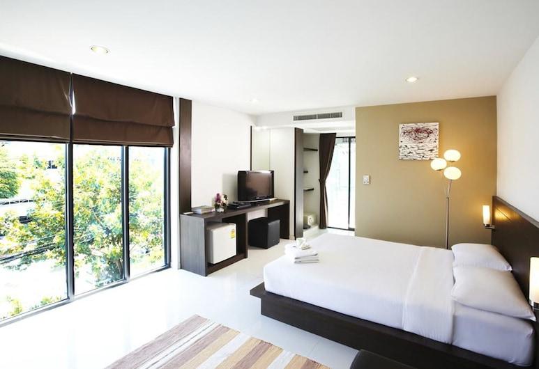 Diamond Residence Ratchada Hotel, Bangkok, Deluxe Room, Guest Room