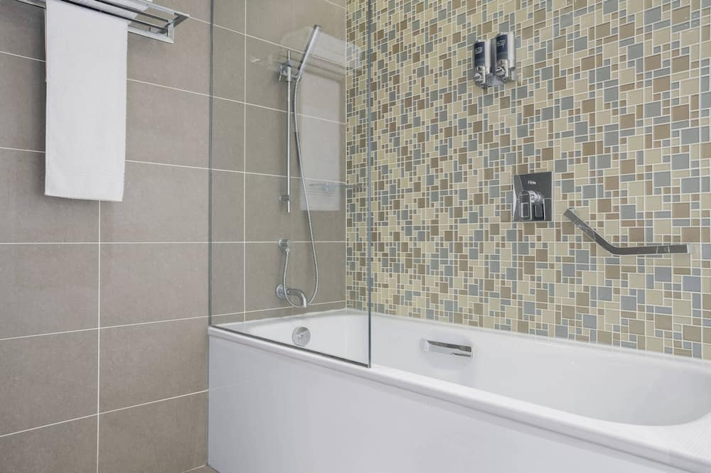 Premium-værelse - 2 dobbeltsenge - udsigt - mod havet - Badeværelse
