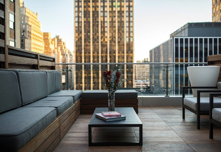 Renaissance New York Midtown Hotel, Nova York, Quarto, 1 cama King, para não fumantes, Terraço, Quarto
