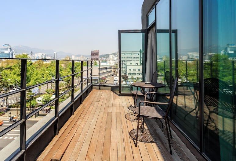 就思留宿酒店, 首爾, 家庭客房, 露台, 陽台