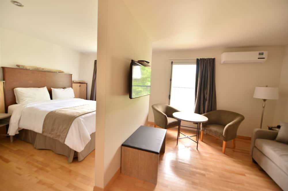Studio Executive - 1 queensize-säng med bäddsoffa - pentry - Vardagsrum