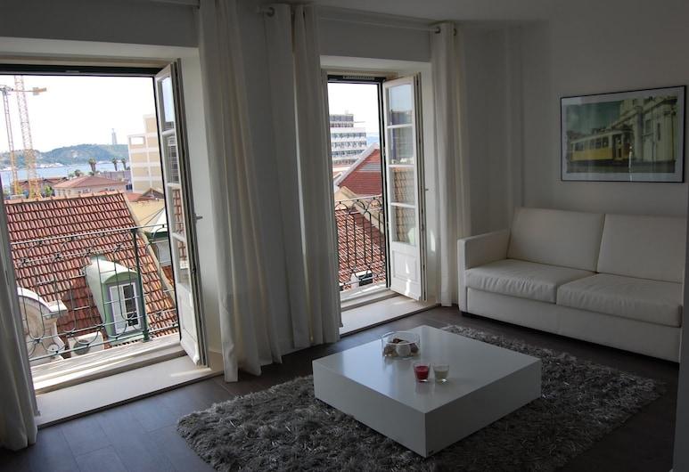 瓦歷斯公寓, 里斯本, 公寓, 露台, 客廳