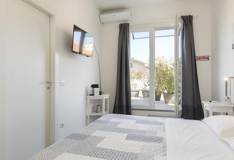 B&B La Terrazza, Rho, Izba s dvojlôžkom alebo oddelenými lôžkami, terasa, Výhľad z hosťovskej izby