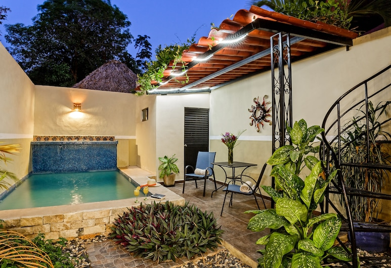 Casa Del Maya Bed & Breakfast, Mérida, Deluxe-Haus, 2Schlafzimmer, Küche, Blick auf den Innenhof, Terrasse/Patio