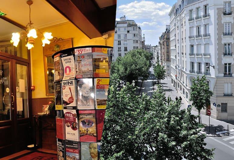 Hôtel Verlaine, París, Inngangur að innanverðu