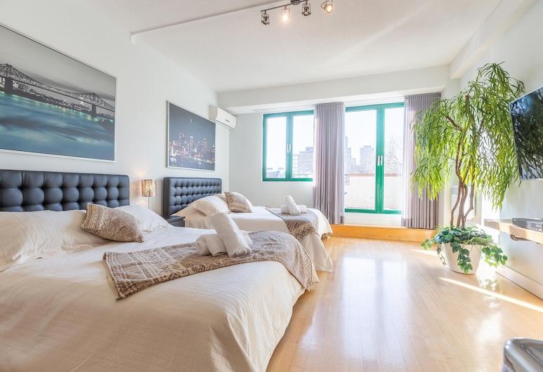 Appartement sur la Main, Monrealis, Liukso klasės mansarda, 2 didelės dvigulės lovos, Kambarys