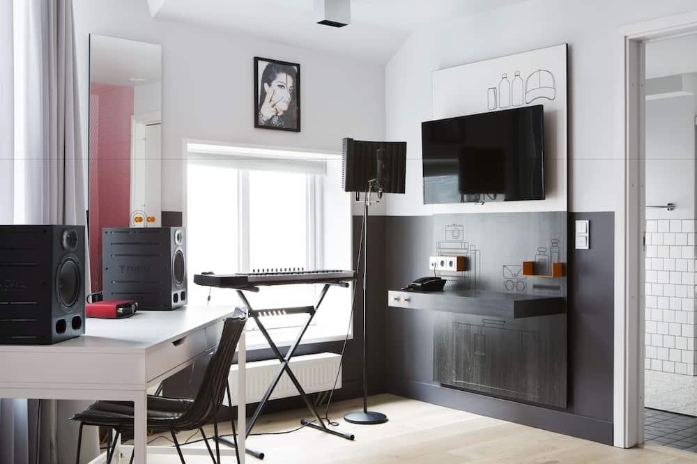 豪華客房, 1 張標準雙人床和 1 張沙發床, 非吸煙房 (1 Person Sofa Bed) - 客廳