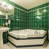 Værelse - 1 queensize-seng - boblebad - Badeværelse