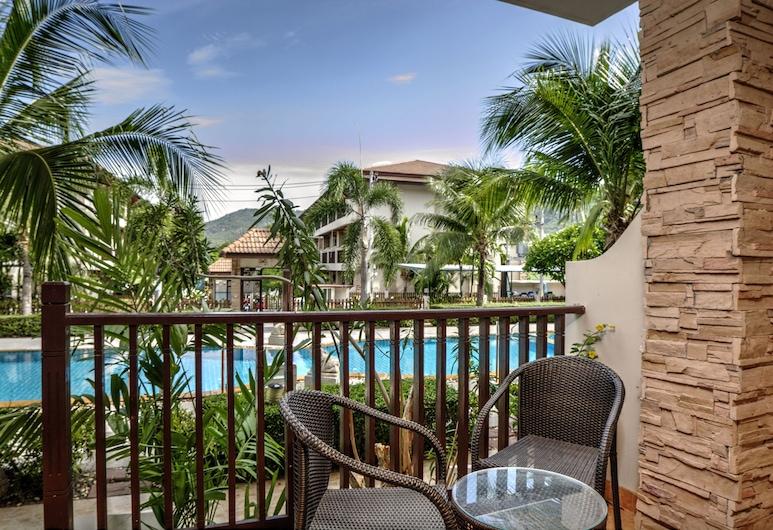 椰林套房酒店, 蘇梅島, 頂級套房, 2 間臥室, 可使用泳池, 泳池景, 陽台