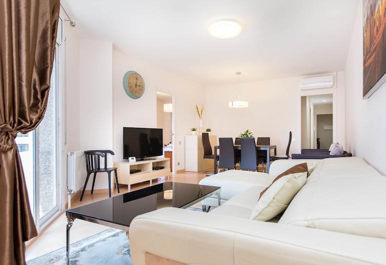 Stay Barcelona Apartments Central, Barcelona, Luxusný apartmán, 3 spálne (C/Muntaner), Obývačka