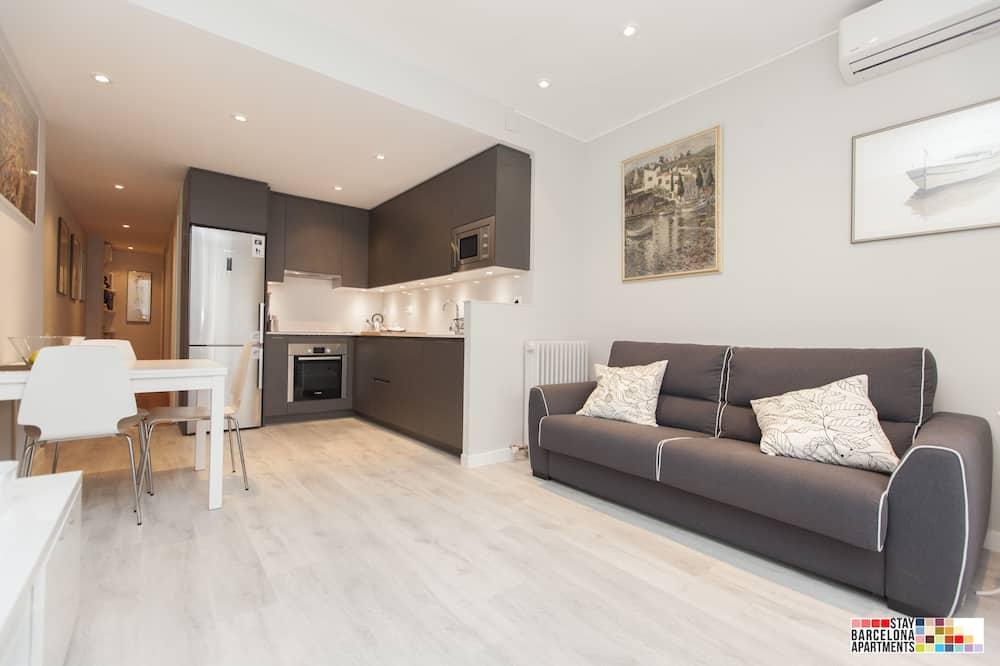 Апартаменты «люкс», 3 спальни, для людей с ограниченными возможностями, терраса (C/Rosselló) - Номер