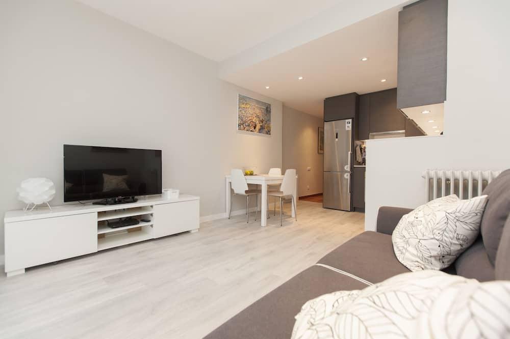 Апартаменты «люкс», 3 спальни, для людей с ограниченными возможностями, терраса (C/Rosselló) - Зона гостиной