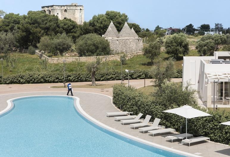 Cala Ponte Hotel, Polignano a Mare, Executive-Doppelzimmer, 1 Schlafzimmer, Terrasse, Executive-Etage, Ausblick vom Zimmer