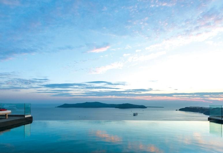 West East Suites, Santorini, Piscina con borde infinito