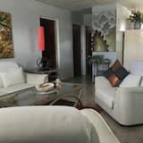 豪華公寓, 2 間臥室, 露台, 城市景 - 客廳