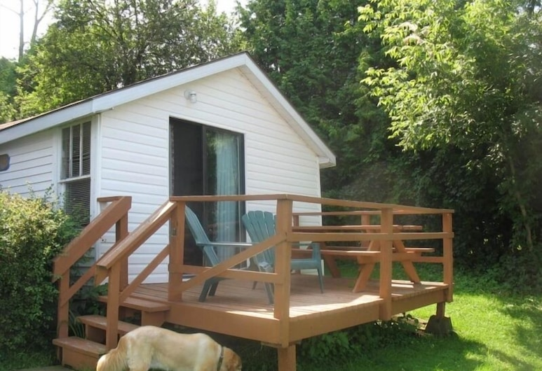 Merland Park Cottages, Πρινς Έντουαρντ, Κατάλυμα σε Αγροικία, Περισσότερα από 1 Κρεβάτια, Κουζίνα (Cottage 1), Μπαλκόνι
