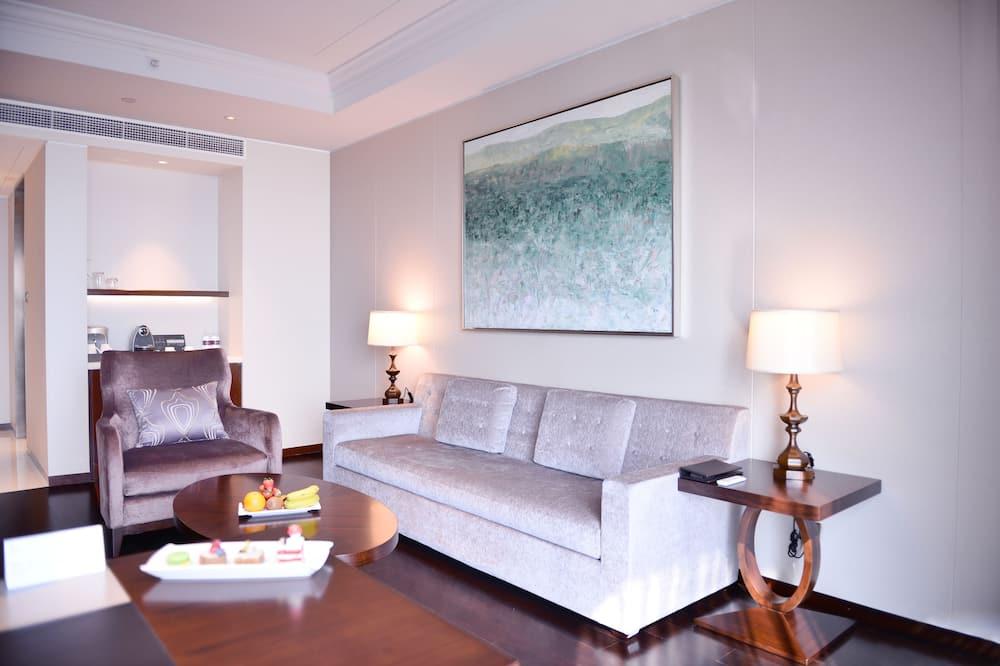 Club-Suite, 1King-Bett, Nichtraucher - Wohnbereich